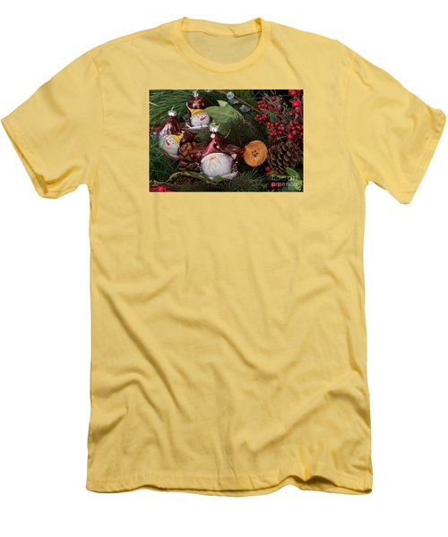 Men's T-Shirt (Slim Fit) featuring the photograph Christmas Tree Decor by Vinnie Oakes