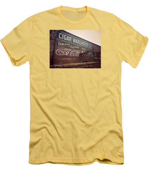 Cigar Warehouse Greenville Sc Men's T-Shirt (Slim Fit) by Kathy Barney