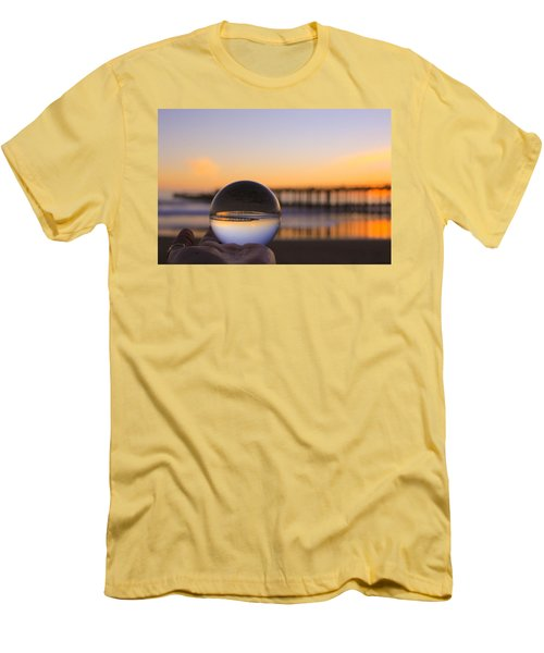 Men's T-Shirt (Athletic Fit) featuring the photograph Circles by Lora Lee Chapman