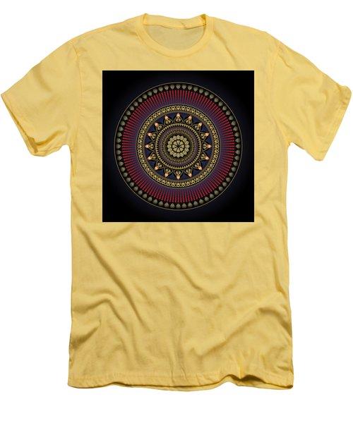 Men's T-Shirt (Slim Fit) featuring the digital art Circularium No 2649 by Alan Bennington