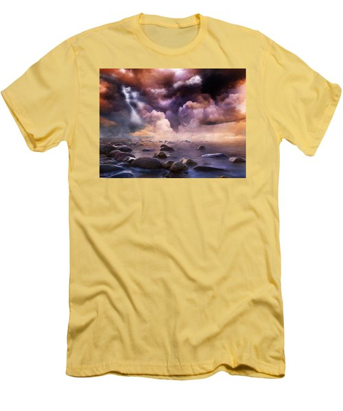 Clash Of The Clouds Men's T-Shirt (Slim Fit) by Gabriella Weninger - David