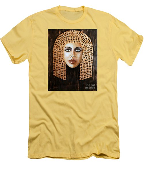 Men's T-Shirt (Slim Fit) featuring the painting Cleopatra by Arturas Slapsys