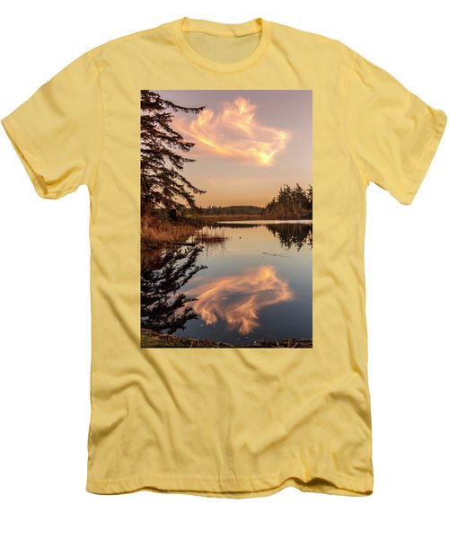 Cloud On Cranberry Lake Men's T-Shirt (Slim Fit) by Tony Locke