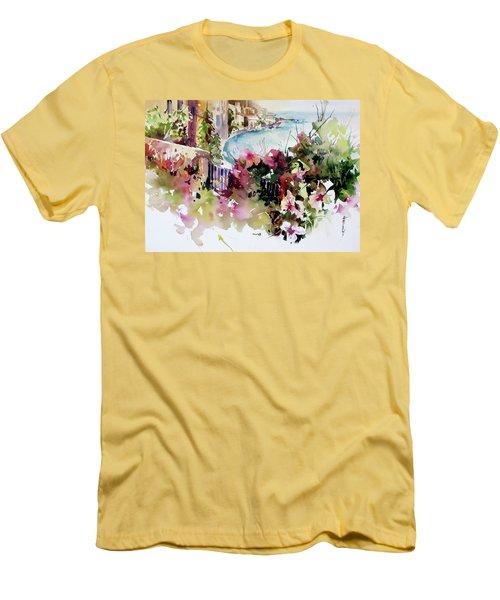 Coastal Vista Men's T-Shirt (Slim Fit) by Rae Andrews