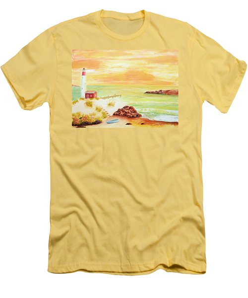 Coastline Lighthouse Men's T-Shirt (Athletic Fit)