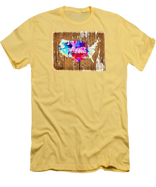 Coca Cola America Men's T-Shirt (Athletic Fit)