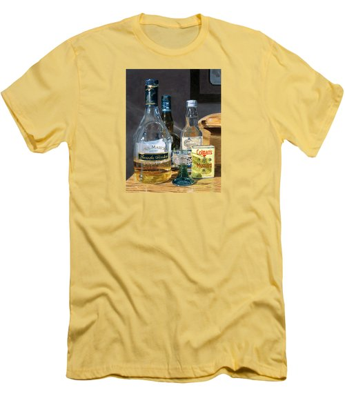 Men's T-Shirt (Athletic Fit) featuring the painting Cocktails And Mustard by Lynne Reichhart