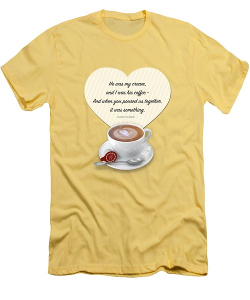 Coffee And Cream Men's T-Shirt (Slim Fit) by Mary Machare