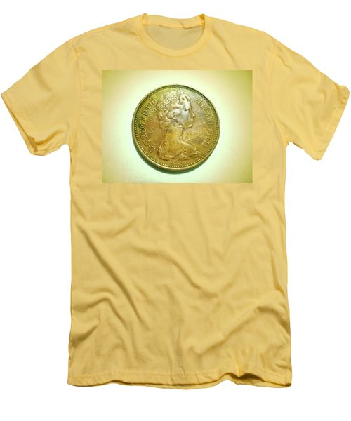 Men's T-Shirt (Slim Fit) featuring the photograph Coin Series - England by Beto Machado