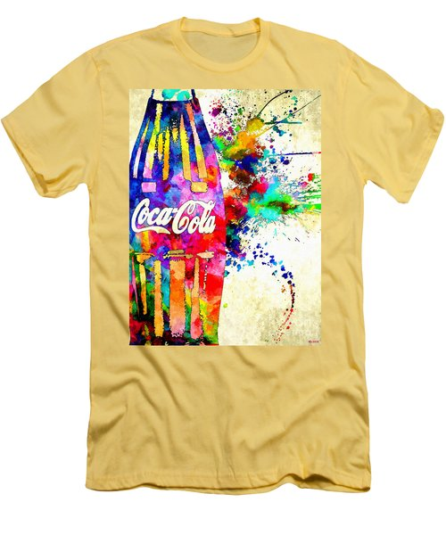 Cola Grunge Men's T-Shirt (Slim Fit) by Daniel Janda