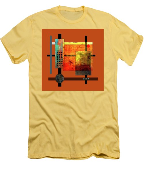 Collage Abstract 7 Men's T-Shirt (Slim Fit) by Patricia Lintner
