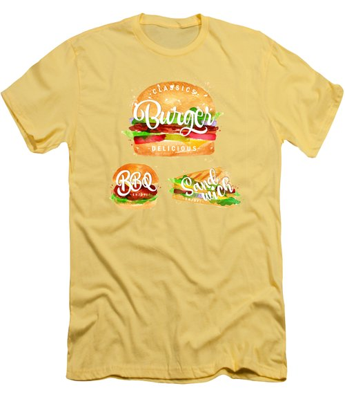 Color Burger Men's T-Shirt (Slim Fit) by Aloke Creative Store