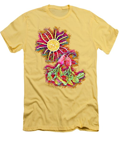 Color Splash - Radish Love  Men's T-Shirt (Athletic Fit)