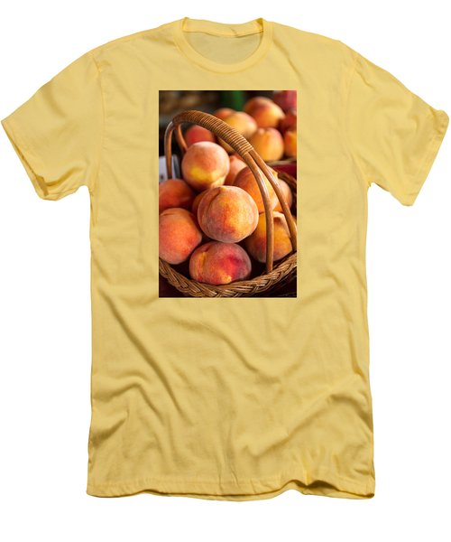 Colorado Peaches In Basket Men's T-Shirt (Athletic Fit)