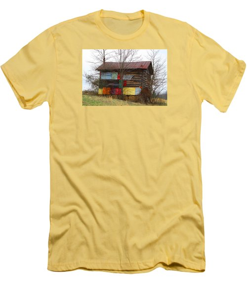 Colorful Barn Men's T-Shirt (Slim Fit) by Kathryn Meyer