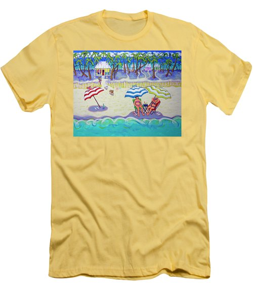 Colorful Beach Hideaway Men's T-Shirt (Athletic Fit)