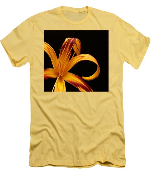 Men's T-Shirt (Slim Fit) featuring the photograph Colorful Curls by Judy Vincent