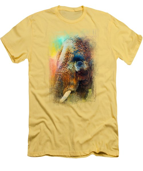 Colorful Expressions Elephant Men's T-Shirt (Athletic Fit)