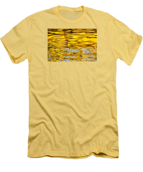 Men's T-Shirt (Slim Fit) featuring the photograph Colorful Reflection In The Water by Odon Czintos