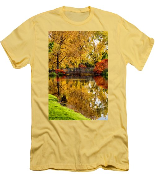Men's T-Shirt (Slim Fit) featuring the photograph Colorful Reflections by Kristal Kraft