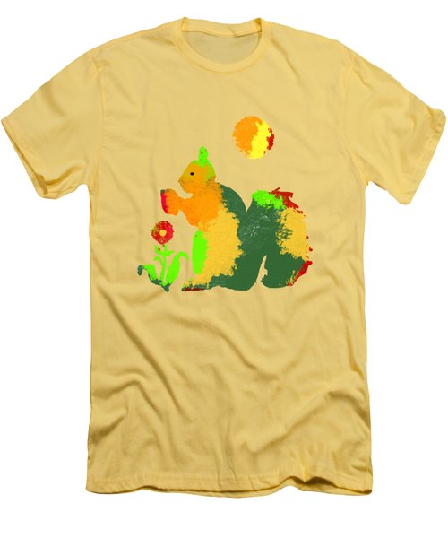 Colorful Squirrel 1 Men's T-Shirt (Athletic Fit)