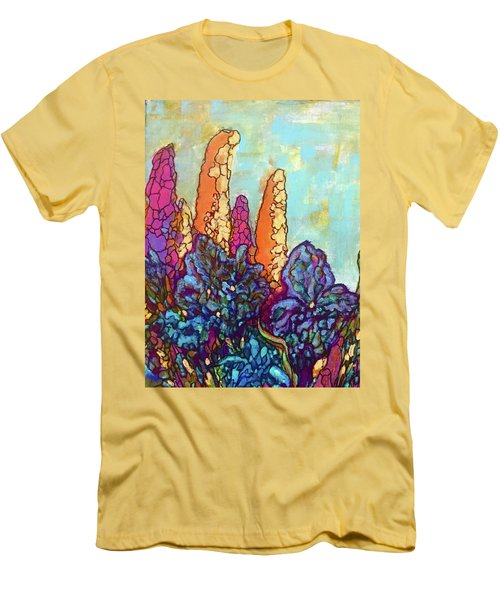 Men's T-Shirt (Slim Fit) featuring the painting Colorwild by Rae Chichilnitsky