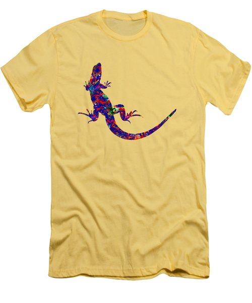 Colourful Lizard Men's T-Shirt (Slim Fit) by Bamalam  Photography