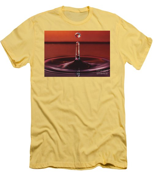 Column With Impending Droplet Men's T-Shirt (Athletic Fit)