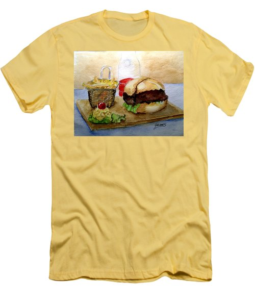 Come And Get It Dinner Is Ready Men's T-Shirt (Slim Fit) by Carol Grimes