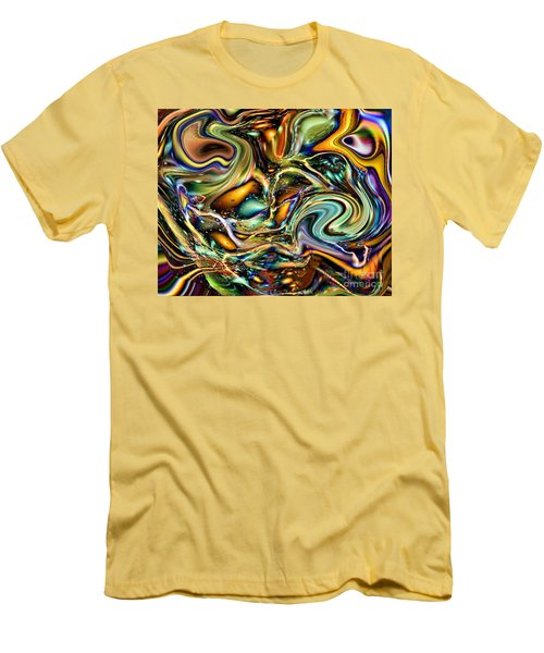 Commotion In The Motion Vii Men's T-Shirt (Slim Fit) by Jim Fitzpatrick