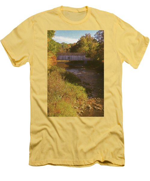 Comstock Covered Bridge Men's T-Shirt (Athletic Fit)