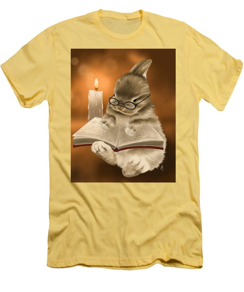 Men's T-Shirt (Slim Fit) featuring the painting Concentration  by Veronica Minozzi