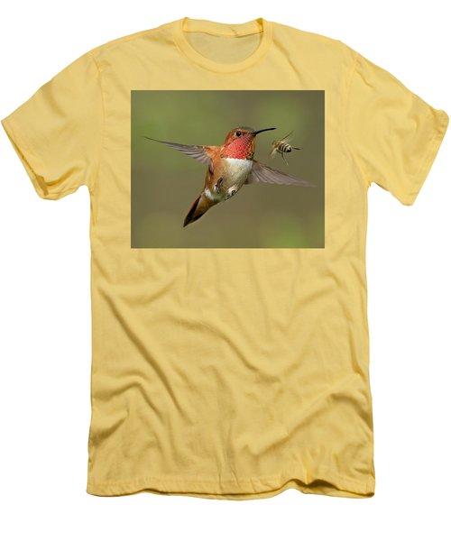 Confrontation Men's T-Shirt (Slim Fit) by Sheldon Bilsker