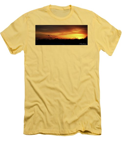 Connecticut Sunset Men's T-Shirt (Slim Fit) by Gordon Mooneyhan