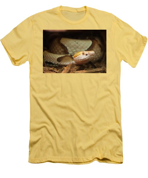 Men's T-Shirt (Slim Fit) featuring the digital art Copperhead by Chris Flees