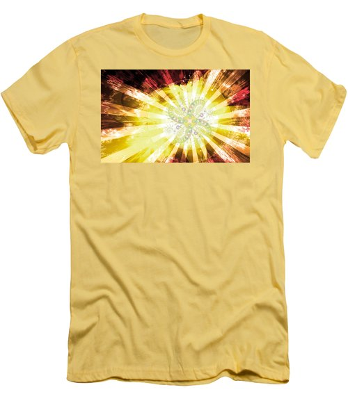 Cosmic Solar Flower Fern Flare 2 Men's T-Shirt (Slim Fit) by Shawn Dall