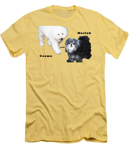Cosmo And Meelah 2 Men's T-Shirt (Slim Fit) by Terry Wallace