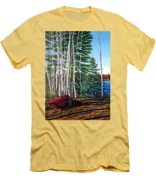 Cottage Country Men's T-Shirt (Slim Fit) by Marilyn McNish