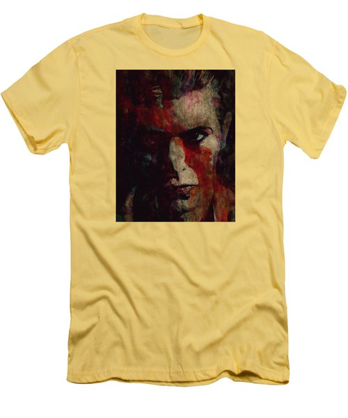 Cracked Actor Men's T-Shirt (Slim Fit) by Paul Lovering