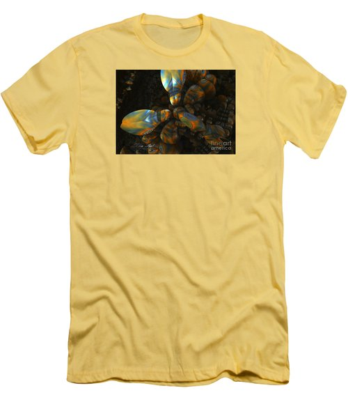Men's T-Shirt (Slim Fit) featuring the digital art Crawdad by Melissa Messick