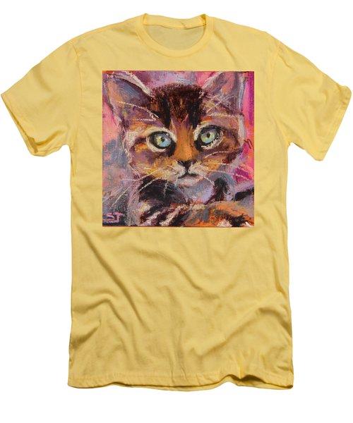 Crazy Cat Tabby  Men's T-Shirt (Athletic Fit)