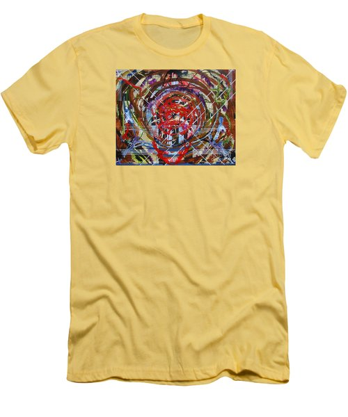 Crazy Quilt Star Dream Men's T-Shirt (Slim Fit) by Stuart Engel
