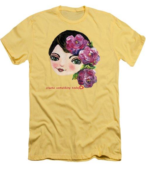 Creative Green Eye Men's T-Shirt (Slim Fit) by Vesna Martinjak