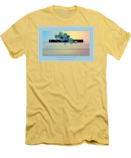 Creativity And Awareness In Yoga Men's T-Shirt (Slim Fit) by Felipe Adan Lerma