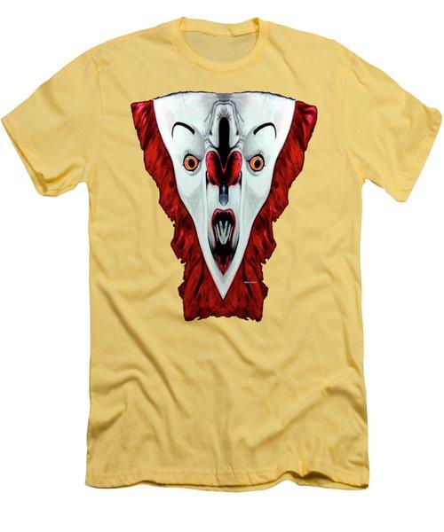 Creepy Clown 01215 Men's T-Shirt (Slim Fit) by Rafael Salazar