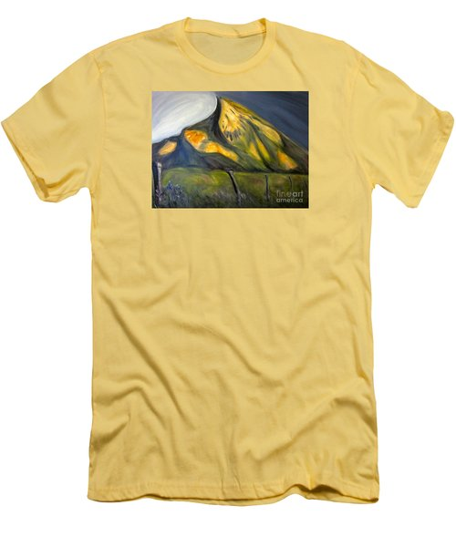 Crested Butte Mtn. Men's T-Shirt (Slim Fit) by Kathryn Barry