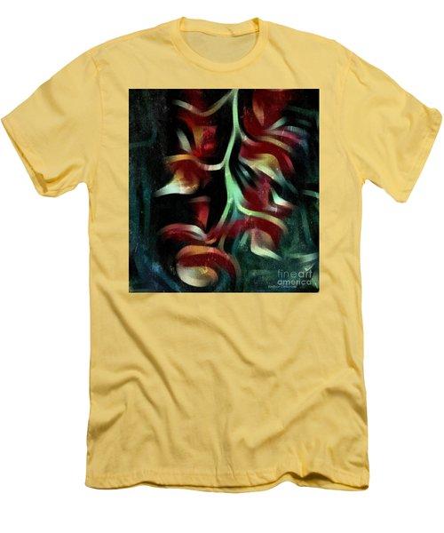 Crimson Flow Men's T-Shirt (Slim Fit) by Kathie Chicoine