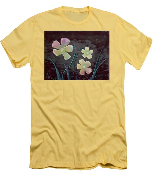 Crimson Flower Men's T-Shirt (Athletic Fit)