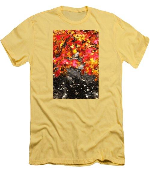 Crimson Splendor II Men's T-Shirt (Slim Fit) by Dan Carmichael