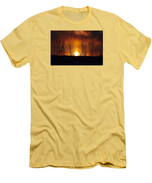 Men's T-Shirt (Slim Fit) featuring the photograph Crisp Sunset by Dacia Doroff